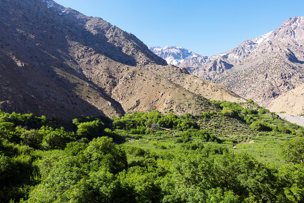 Armed Village - the highest village in the Mizane Valley located at the base of Mnt Toubkal, High Atlas Mountains, Morocco