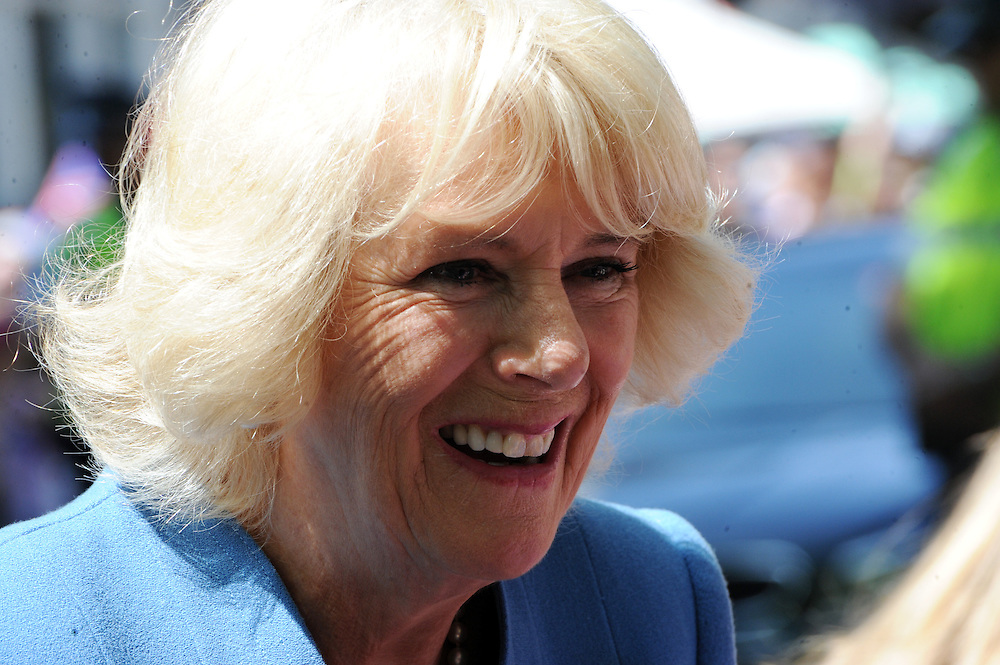 Camilla, Duchess of Cornwall on her public walkabout in Nelson, New Zealand, Saturday, November 07, 2015. Credit:SNPA / Ross Setford
