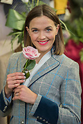 Victoria Pendleton on the Welligogs stand - The Chelsea Flower Show organised by the Royal Horticultural Society with M&G as its main sponsor for the final year.