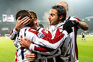 Onderwerp/Subject: Willem II - Eredivisie<br /> Reklame:  <br /> Club/Team/Country: <br /> Seizoen/Season: 2012/2013<br /> FOTO/PHOTO: Virgil MISIDJAN (L) of Willem II celebrating his goal with Gaby JALLO (R) of Willem II and teammates ( 1 - 0 ). (Photo by PICS UNITED)<br /> <br /> Trefwoorden/Keywords: <br /> #02 #22 $94 ±1342781806743<br /> Photo- & Copyrights © PICS UNITED <br /> P.O. Box 7164 - 5605 BE  EINDHOVEN (THE NETHERLANDS) <br /> Phone +31 (0)40 296 28 00 <br /> Fax +31 (0) 40 248 47 43 <br /> http://www.pics-united.com <br /> e-mail : sales@pics-united.com (If you would like to raise any issues regarding any aspects of products / service of PICS UNITED) or <br /> e-mail : sales@pics-united.com   <br /> <br /> ATTENTIE: <br /> Publicatie ook bij aanbieding door derden is slechts toegestaan na verkregen toestemming van Pics United. <br /> VOLLEDIGE NAAMSVERMELDING IS VERPLICHT! (© PICS UNITED/Naam Fotograaf, zie veld 4 van de bestandsinfo 'credits') <br /> ATTENTION:  <br /> © Pics United. Reproduction/publication of this photo by any parties is only permitted after authorisation is sought and obtained from  PICS UNITED- THE NETHERLANDS