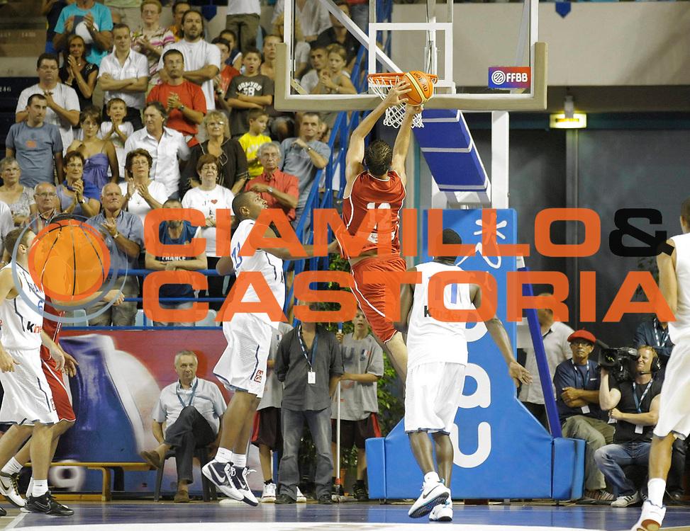 DESCRIZIONE : Equipe de France A Preparation Championnat du monde France Tunisie Homme Pau<br /> GIOCATORE : Ben Romdhane Makrem<br /> SQUADRA : Tunisie<br /> EVENTO : France Basket Action Homme 2010<br /> GARA : France Tunisie<br /> DATA : 07/08/2010<br /> CATEGORIA : Basketball Action Homme<br /> SPORT : Basketball<br /> AUTORE : JF Molliere FFBB par Agenzia Ciamillo-Castoria <br /> Galleria : France Basket Homme 2010 <br /> Fotonotizia : France A Homme 2009-10 France Tunisie Preparation Championnat du Monde Pau <br /> Predefinita :