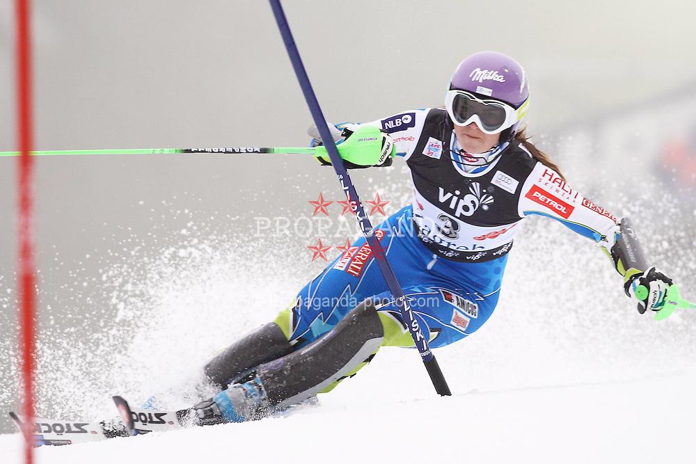 03.01.2012, Crveni Spust, Sljeme, CRO, FIS Weltcup Ski Alpin, Zagreb, Damen Slalom 1. Durchgang, im Bild Tina Maze during Slalom race 1st run of FIS Ski Alpine World Cup at 'Crveni Spust' course in Sljeme, Zagreb, Croatia on 2012/01/03. EXPA Pictures © 2012, PhotoCredit: EXPA/ nph/ PIXSELL/ Slavko Midzor..***** ATTENTION - OUT OF GER, CRO *****
