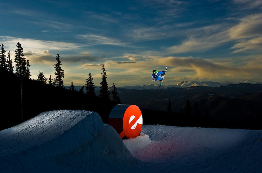 Seth Hill shot for Echo Mountain Terrain Park in Denver, Colorado.