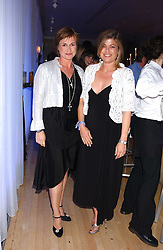 Left to right, sisters EMMA FORBES and SARAH STANDING at party in aid of cancer charity Clic Sargent held at the Sanderson Hotel, Berners Street, London on 4th July 2005.<br />