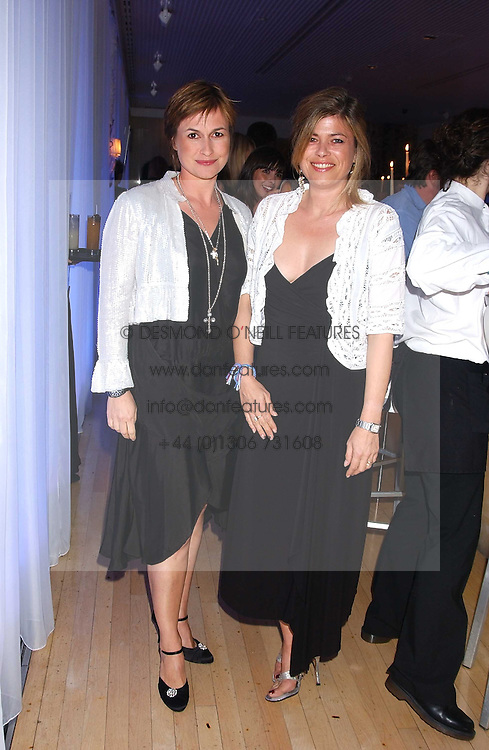 Left to right, sisters EMMA FORBES and SARAH STANDING at party in aid of cancer charity Clic Sargent held at the Sanderson Hotel, Berners Street, London on 4th July 2005.<br /><br />NON EXCLUSIVE - WORLD RIGHTS