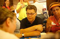 Al Franken in St. Paul, Minnesota, at a Democratic party fund raising picnic... Al Franken