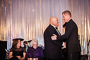 Honorable Patrick Huels, left, and Thomas Caplis, Chair, Mercy Foundation, Inc. Board of Directors presents an award to Honorable Patrick Huels at the Mercy Hospital & Medical Center's 51st Dinner Dance Gala at the Hilton Chicago on September 28, 2018. (Photo:Natalie Battaglia)