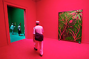 VENICE, ITALY..50th Biennale of Venice.British Pavillion..Paintings by Chris Ofili..(Photo by Heimo Aga)