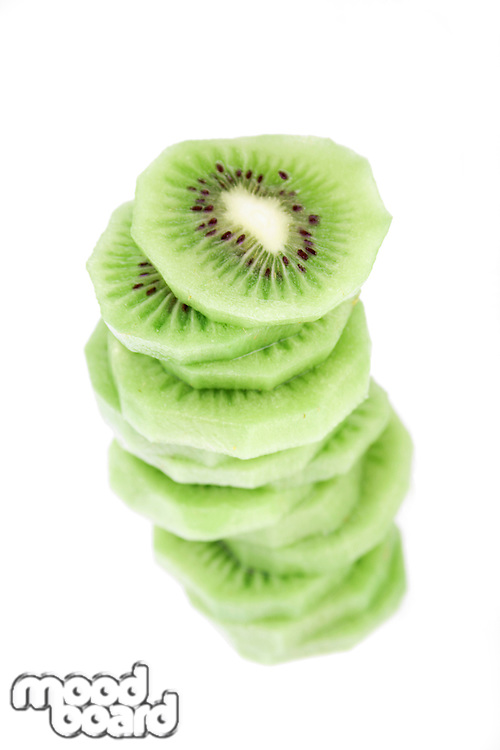 Studio shot of kiwi fruits