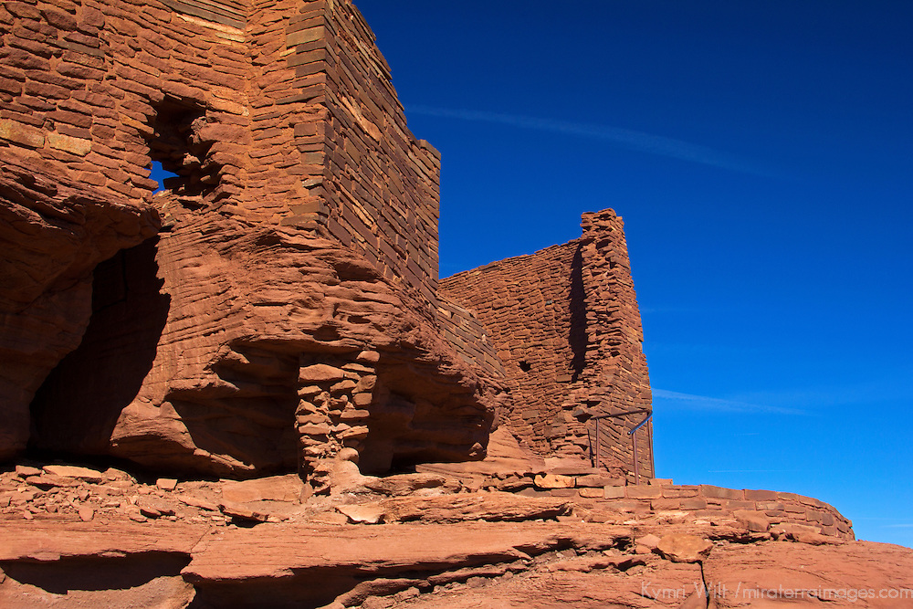 North America, USA, Arizona, Wupatki. Wukoki Pueblo in Wupatki National Monument.