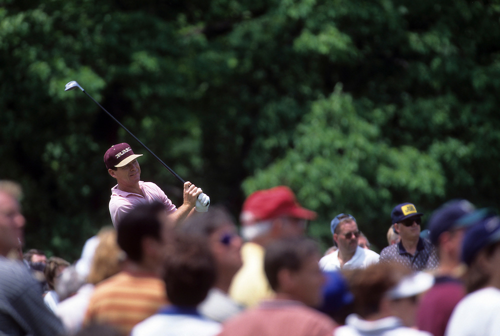 Tom Watson at the 1996 Memorial Tournament held at the Muirfield Village Golf Club in Dublin, Ohio.