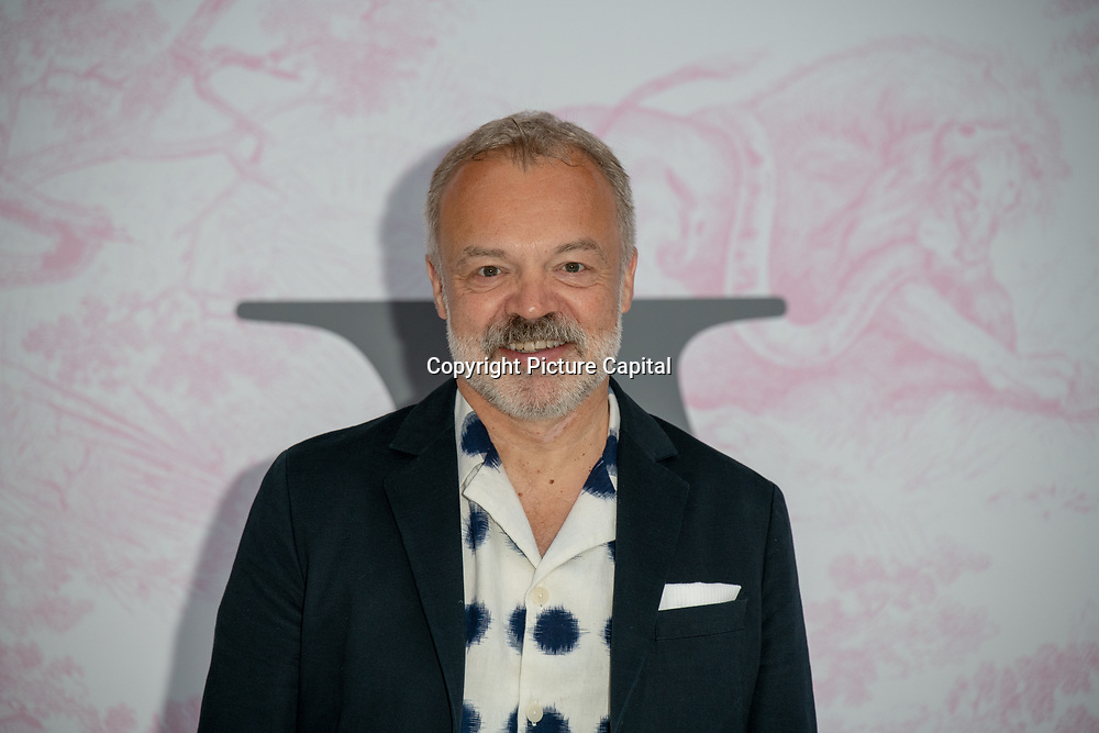 Graham Norton arrives at V&A - summer party, on 19 June 2019, London, UK