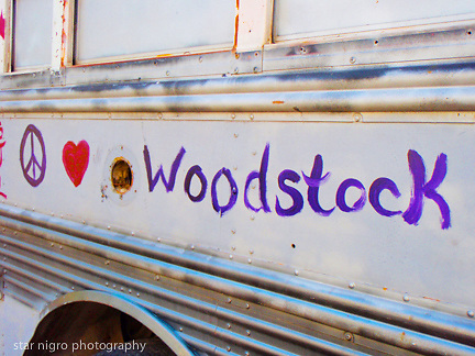 about photo: Woodstock message on school bus<br />