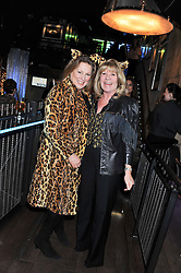 Left to right, VISCOUNTESS GORMANSTON and INGRID SEWARD at the Wild for WSPA dinner in aid of the charity World Society for the Protection of Animals held at Under The Bridge, Stamford Bridge, Fulham Road, London on 23rd February 2012.