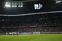 """Il minuto di silenzio in memoria dell'ex calciatore Johan Cruyff<br /> One minute of silence for the death of Johan Cruyff<br /> Monaco di Baviera 29-03-2016 Stadio """"Allianz Arena""""<br /> Football Calcio 2015/2016 Friendly Match<br /> Germania-Italia / Germany-Italy 4-1<br /> Foto Luca Pagliaricci / Insidefoto"""