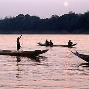 Fisherman's, Meckong river, Luang Prabang. Laos.