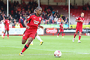 Crawley Town Defender Lewis Young during the EFL Sky Bet League 2 match between Crawley Town and Luton Town at the Checkatrade.com Stadium, Crawley, England on 17 September 2016. Photo by Phil Duncan.