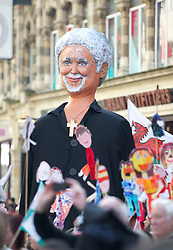 CARDIFF, WALES - Thursday, March 1, 2012: A float of Tom Jones during the 10th St. David's Day Parade through the streets of Cardiff. (Pic by David Rawcliffe/Propaganda)