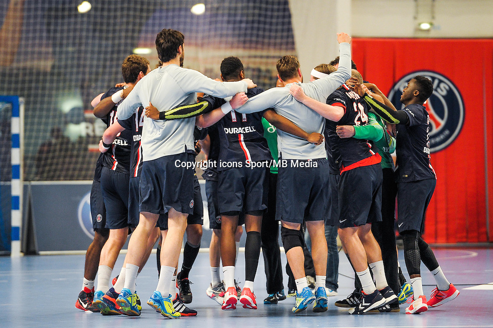 joie PSG - 14.05.2015 - PSG / Dunkerque - 23eme journee de D1<br /> Photo : Andre Ferreira / Icon Sport