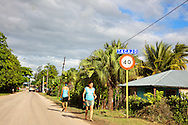 Entry to Tacajo, Holguin, Cuba.