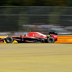 F1 Australian Grand Prix 15 March 2013 Practice Session 2.Practice Session 2. Max Chilton Marussia Team turn 7.(c) MILOS LEKOVIC | StockPix.eu