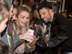 © Licensed to London News Pictures . 13/11/2013 . Merseyway Shopping Centre , Stockport , UK . RYLAN CLARK poses with fans after appearing on stage . Stage acts perform ahead of the Merseyway Shopping Centre turning on their Christmas lights . Photo credit : Joel Goodman/LNP
