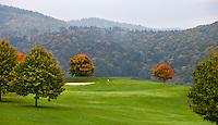 DILLENBURG (Duitsland) - Hole 3, Golf Club Dillenburg in Westerwald. COPYRIGHT KOEN SUYK