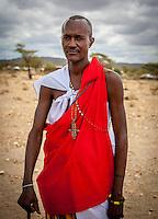 Samburu man, Samburu National Reserve, Kenya