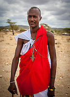 Samburu man, Samburu National Reserve, Kenya