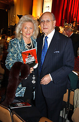 SIR GEOFREY & LADY LEIGH at the annual House of Lords & House of Commons Parliamentary Palace of Varieties at St.John's Smith Square, London on 27th January 2005.<br /><br />NON EXCLUSIVE - WORLD RIGHTS