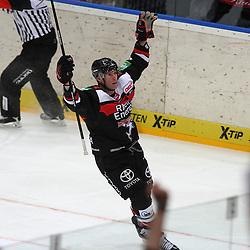 25.11.2014, Lanxess-Arena, Köln, GER, DEL, Koelner Haie vs Krefeld Pinguine, 25. Runde, im Bild Charlie Stephens (Koeln) dreht nach seinem Tor zum 4:1 gegen Krefeld jubelnd ab // during Germans DEL Icehockey League 25th round match between Koelner Haie and Krefeld Pinguine at the Lanxess-Arena in Köln, Germany on 2014/11/25. EXPA Pictures © 2014, PhotoCredit: EXPA/ Eibner-Pressefoto/ Weiss<br /> <br /> *****ATTENTION - OUT of GER*****