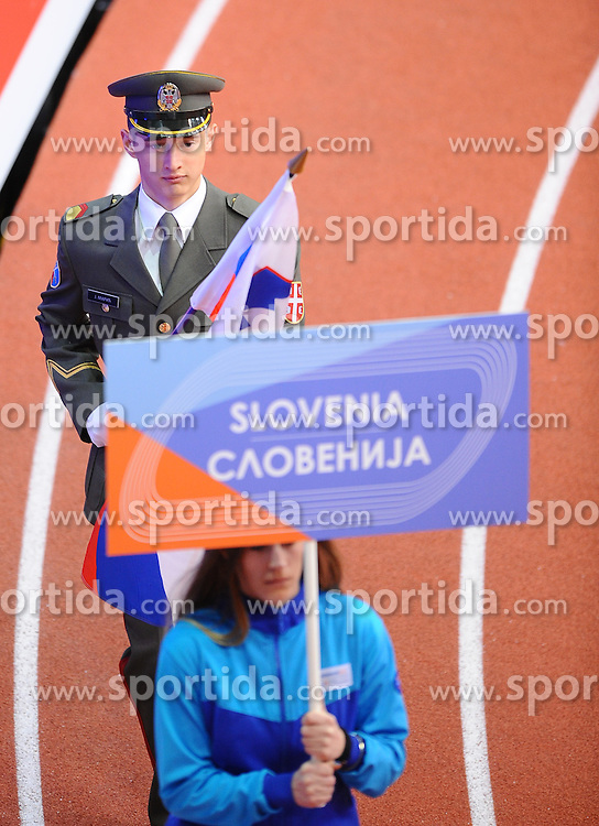 Opening ceremony on day one of the 2017 European Athletics Indoor Championships at the Kombank Arena on March 3, 2017 in Belgrade, Serbia. Photo by Vid Ponikvar / Sportida