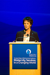 © under license to London News Pictures. 17/11/2010. Health Minister Anne Milton MP addresses an audience of Midwives at The Royal College of Midwives' conference, in Manchester