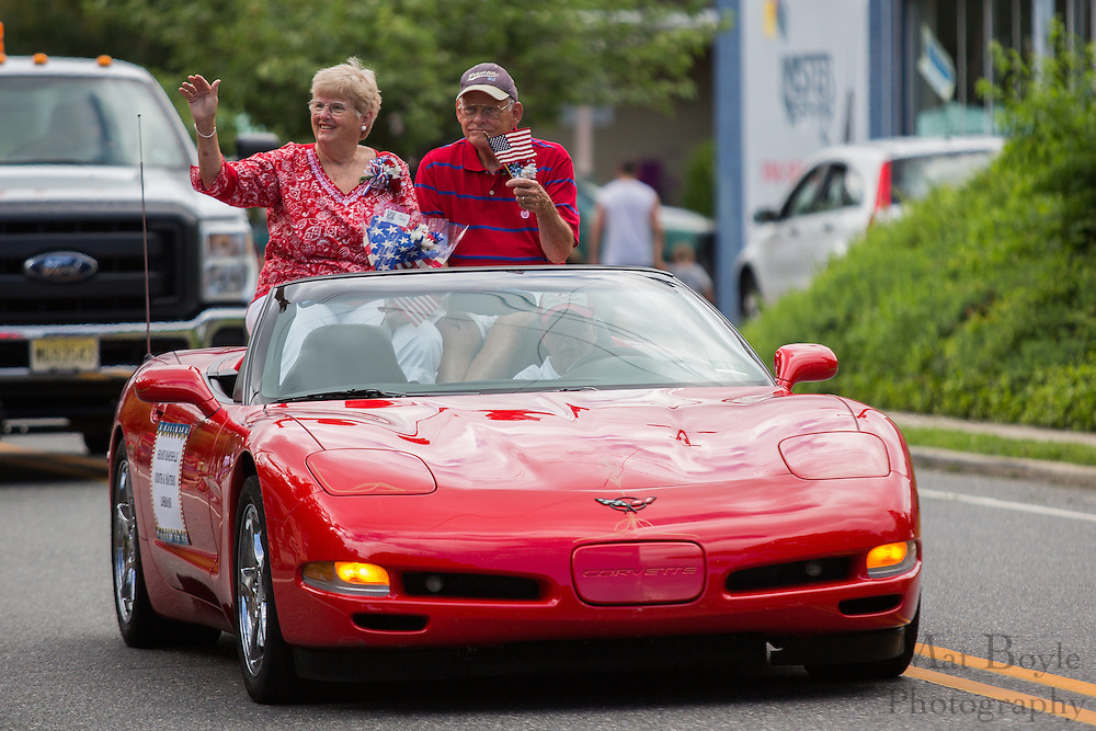 Pitman 4th of July Parade Grand Marshals Judith & Watson Lohman at Broadway in Pitman, NJ on Thursday July 4, 2013. (photo / Mat Boyle)