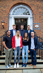 LIVERPOOL, ENGLAND - Friday, June 16, 2017: The players at 60 Hope Street during Day Two of the Liverpool Hope University International Tennis Tournament 2017. Clockwise left to right: Adam Jones (GBR), Barry Cowan (GBR), Marcus Willis (GBR), Steve Darcis (BEL), Corinna Dentoni (ITA), Polona Hercog (SLO), Guillermo Cañas (ARG). (Pic by David Rawcliffe/Propaganda)