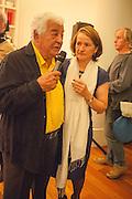 ANTONIO CARLUCCIO; SABINA STEVENSON, Launch party for the publication of Antonio Carluccio's memoirs, A Recipe for Life, . Carluccio's in Covent Garden Garrick St. London.  26 September 2012