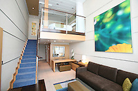 The launch of Royal Caribbean International's Oasis of the Seas, the worlds largest cruise ship..Staterooms,.Crown Loft Suite bathroom