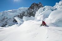 The Tasman Glacier (Haupapa) is the largest glacier in New Zealand, and one of several large glaciers which flow south and east towards the Mackenzie Basin from the Southern Alps in New Zealand's South Island.