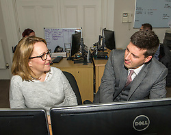 Pictured: Jamie Hepburn and Claire Barrett, Grant Properties<br />