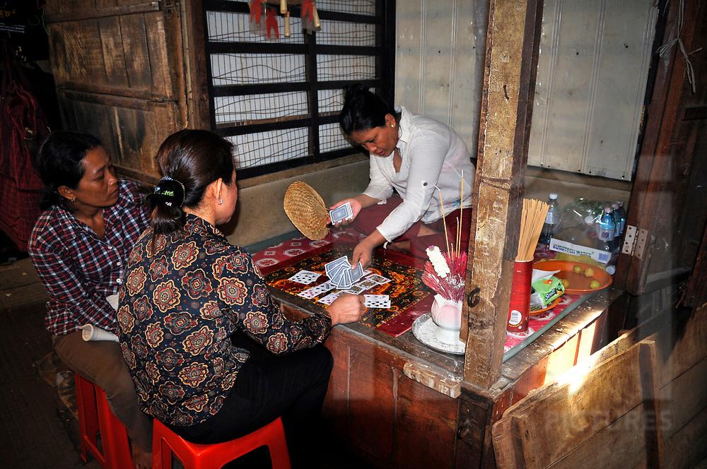 Fortune teller in Phnom Penh, Southeast Asia