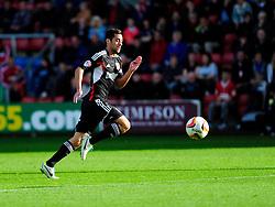 Bristol City's Sam Baldock chases a loose ball - Photo mandatory by-line: Dougie Allward/JMP - Tel: Mobile: 07966 386802 19/10/2013 - SPORT - FOOTBALL - Alexandra Stadium - Crewe - Crewe V Bristol City - Sky Bet League One