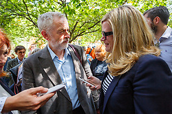 06/08/2015. London, UK. Labour Party leader candidate Jeremy Corbyn attends a Campaign for Nuclear Disarmament rally to mark the 70th Anniversary of the atomic bombings of Hiroshima and Nagasaki in Tavistock Square, London on Thursday, August 6, 2015. Photo credit: Tolga Akmen /LNP