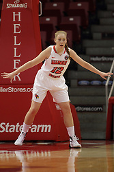 04 November 2015:  Millie Stevens(12).Illinois State University Women's Basketball team hosted The Lions from Lindenwood for an exhibition game at Redbird Arena in Normal Illinois.