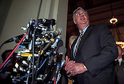 Majority leader Dick Army speaks to the media after Republican House Caucus elections November 18, 1998 in Washington, DC.