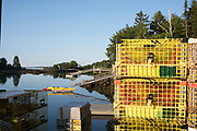 Lobster pots in Cushing, Maine.
