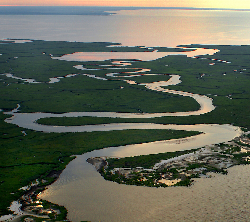 Aerial, New Jersey, Delaware Bay Estuary