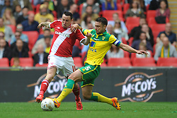 Norwich Russell Martin battles with Middlesbrough Lee Tomlin, Middlesbrough v Norwich, Sky Bet Championship, Play Off Final, Wembley Stadium, Monday  25th May 2015