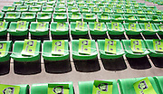 A general view of Montauban flags on the seats before the game. Montauban v Munster,  Heineken Cup Pool A match in Montauban, France...