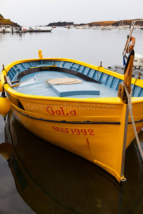 Dali's boat - Gala, the boat of surrealist artist Salvador Dali, Cala de Portlligat, Cadaques, Catalonia, Spain