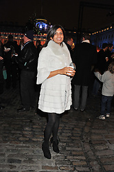 DIVIA CADBURY at a Winter Party hosted by Tiffany to celebrate the opening of the Ice Rink at Somerset House for Christmas 2011 held on 21st November 2011.